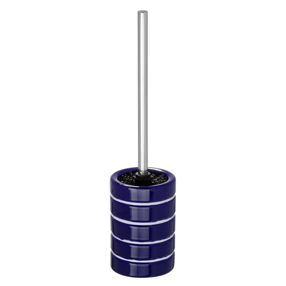 Wenko Marine Ceramic Toilet Brush & Holder - Blue - 21059100 Large Image