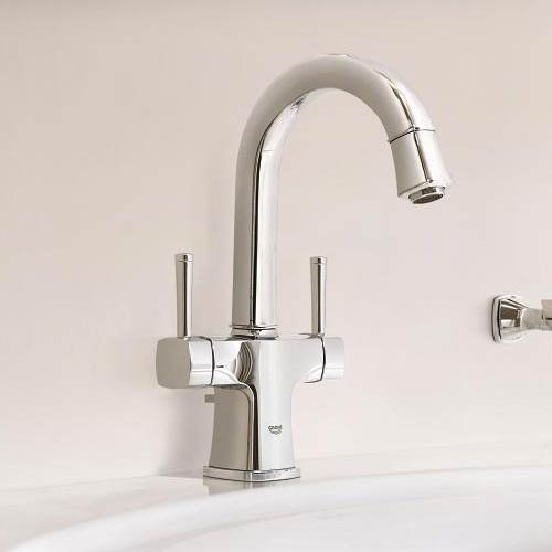 Grohe Grandera Two Handle Basin Mixer with Pop-up Waste - Chrome - 21107000 profile large image view 3