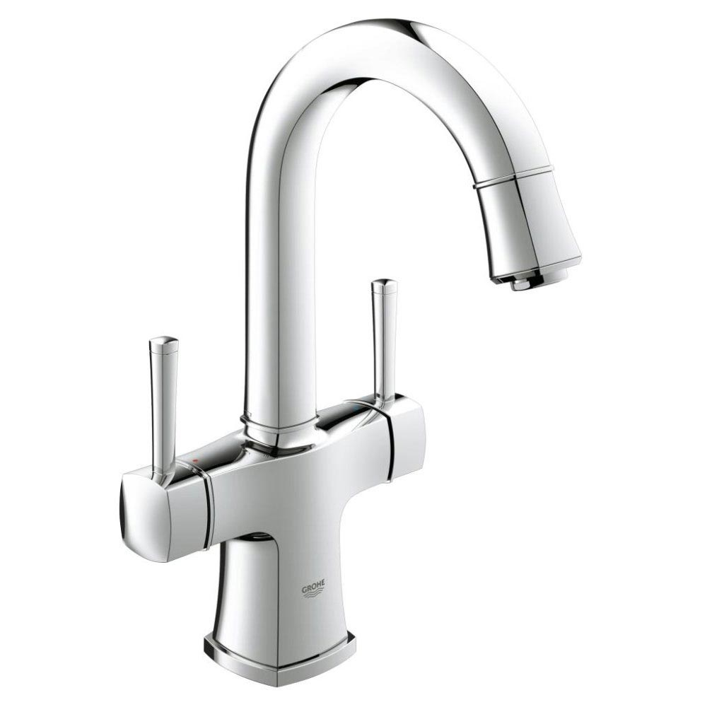 Grohe Grandera Two Handle Basin Mixer with Pop-up Waste - Chrome - 21107000 Large Image