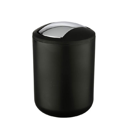 Wenko Brasil Black Swing Cover Bin