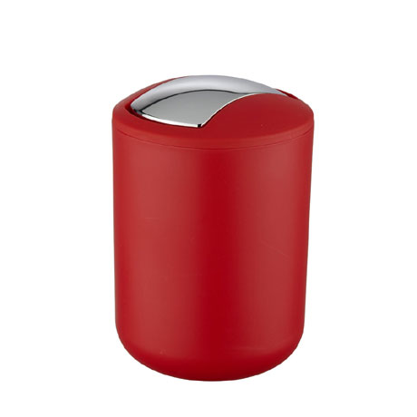 Wenko Brasil Red Swing Cover Bin