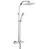 Bristan Waterfall Exposed Shower with Rigid Riser and Handset Chrome profile small image view 1
