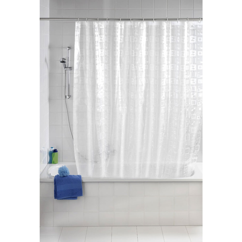 Wenko Retro PEVA 3D Shower Curtain - W1800 x H2000mm - 21271100 Profile Large Image