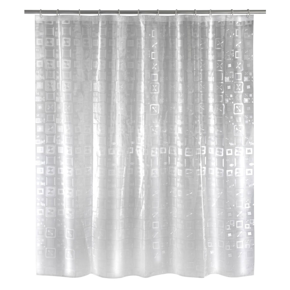 Wenko Retro PEVA 3D Shower Curtain - W1800 x H2000mm - 21271100 Large Image