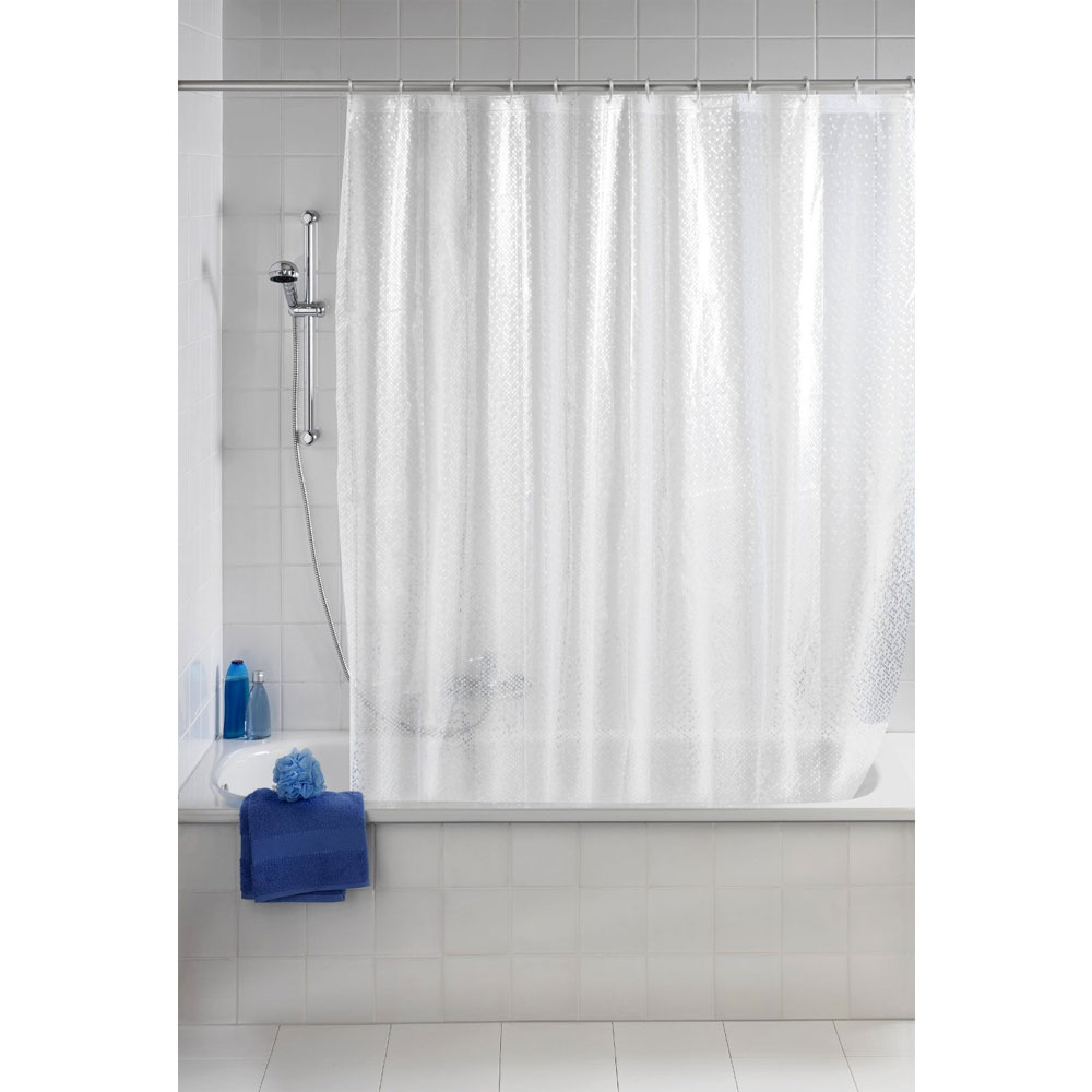 Wenko Stamp PEVA 3D Shower Curtain - W1800 x H2000mm - 21272100 profile large image view 2