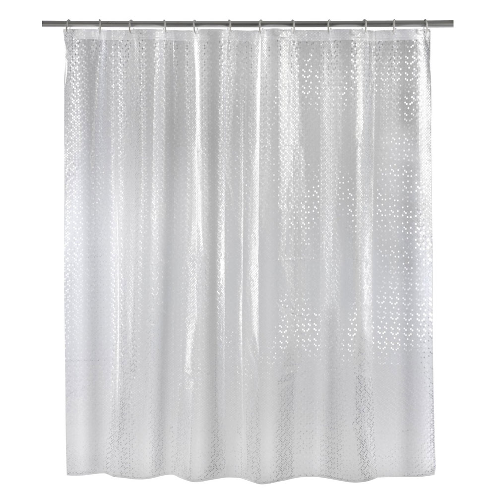 Wenko Stamp PEVA 3D Shower Curtain - W1800 x H2000mm - 21272100 Large Image