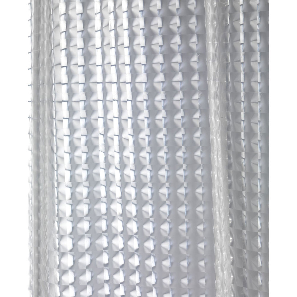 Wenko Disco PEVA 3D Shower Curtain - W1800 x H2000mm - 21273100 profile large image view 3