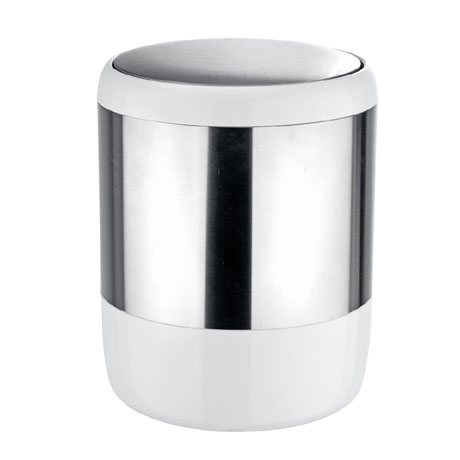 Wenko Loft Stainless Steel and Plastic Swing Cover Bin - 21279100