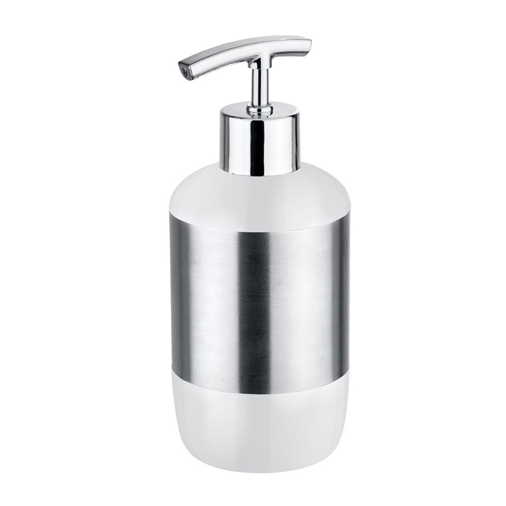 Wenko Loft Stainless Steel and Plastic Soap Dispenser - 21281100 profile large image view 1