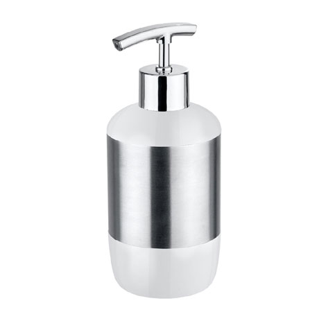 Wenko Loft Stainless Steel and Plastic Soap Dispenser - 21281100
