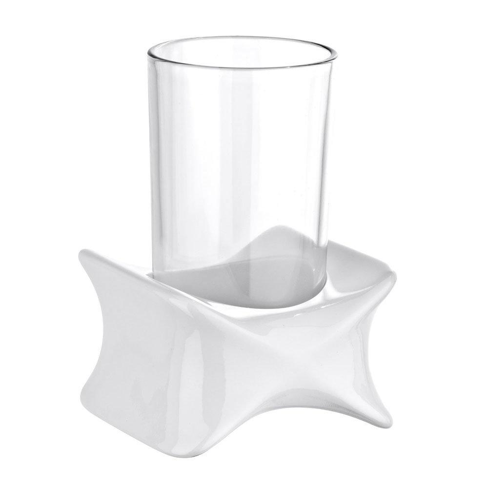 Wenko X-Form Tumbler & Holder - White - 21310100 profile large image view 2