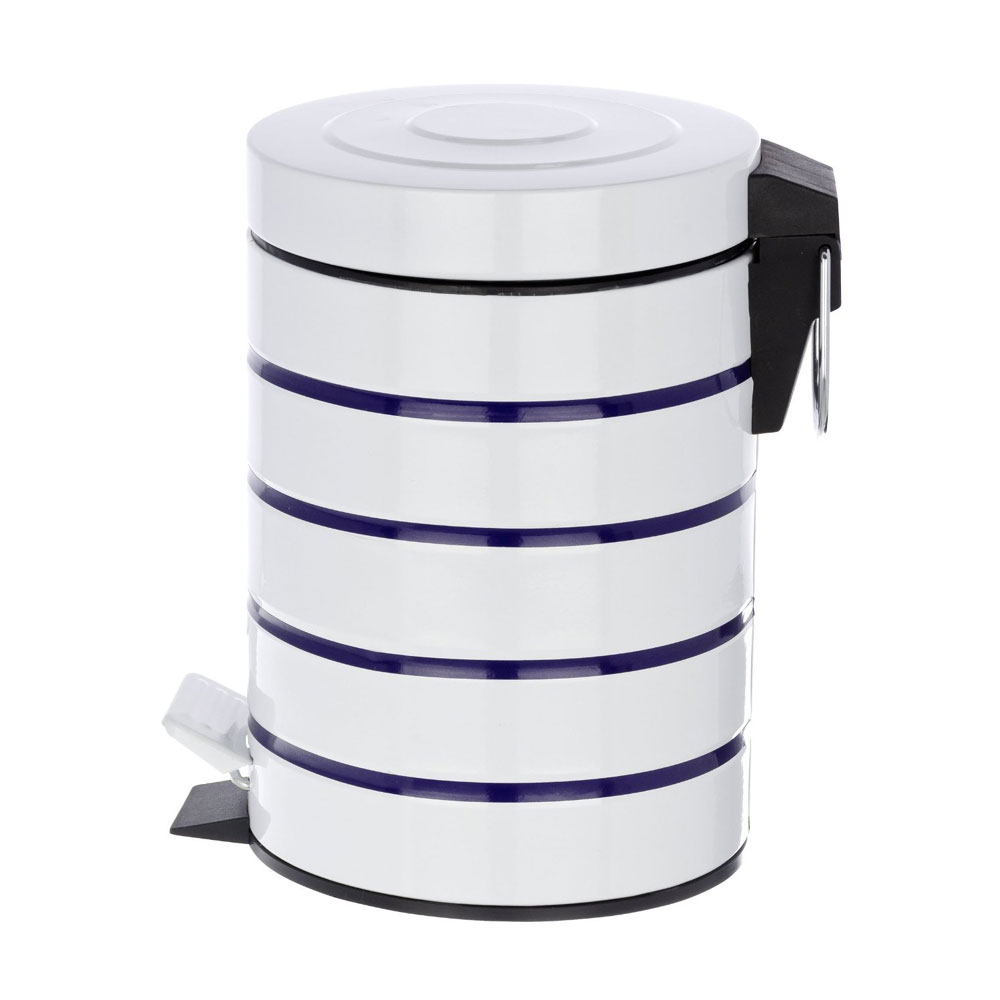 Wenko Marine 3 Litre Cosmetic Pedal Bin - White - 21351100 profile large image view 2