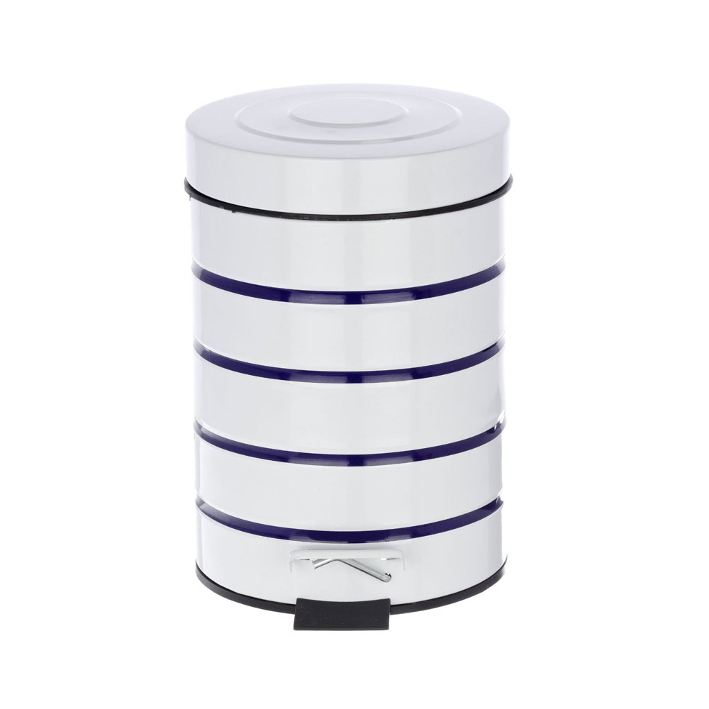 Wenko Marine 3 Litre Cosmetic Pedal Bin - White - 21351100 Feature Large Image