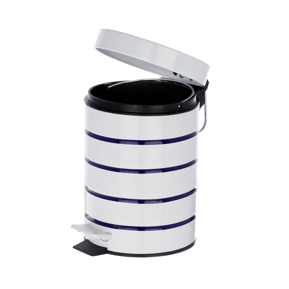 Wenko Marine 3 Litre Cosmetic Pedal Bin - White - 21351100 profile large image view 4