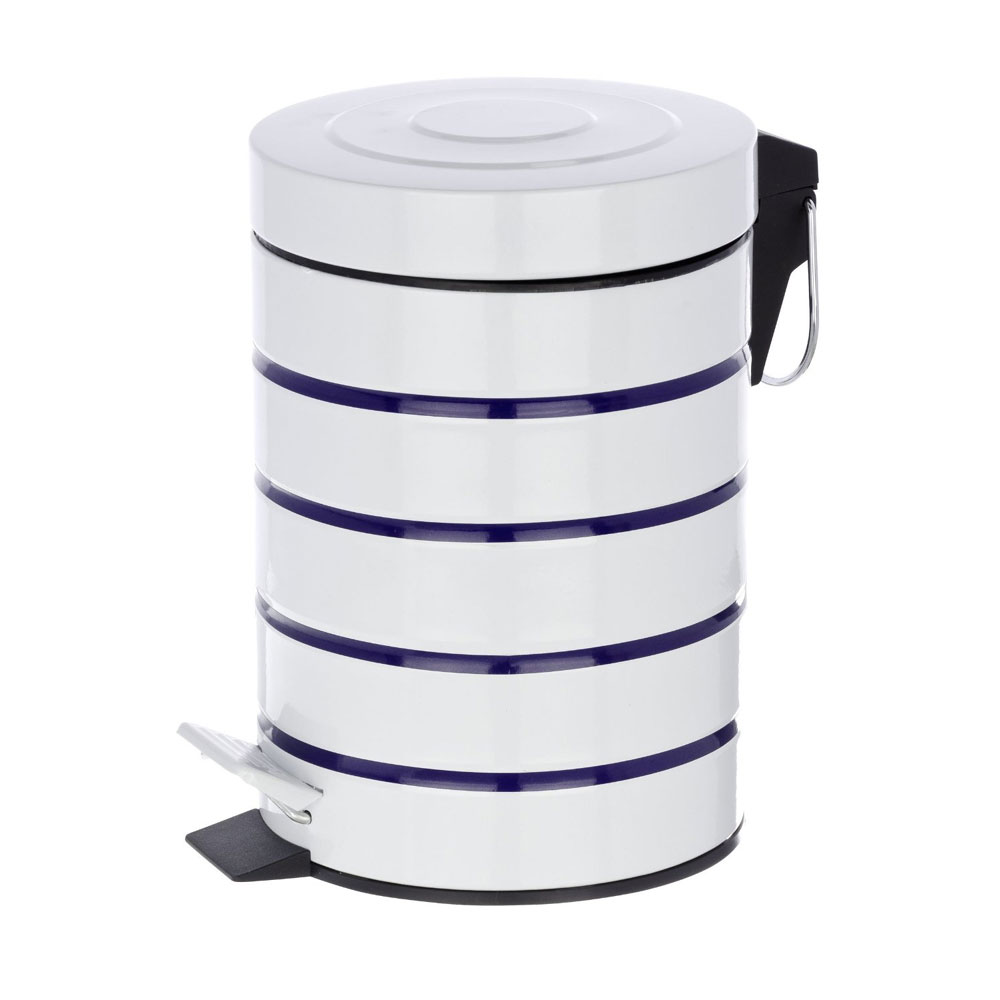 Wenko Marine 3 Litre Cosmetic Pedal Bin - White - 21351100 additional Large Image