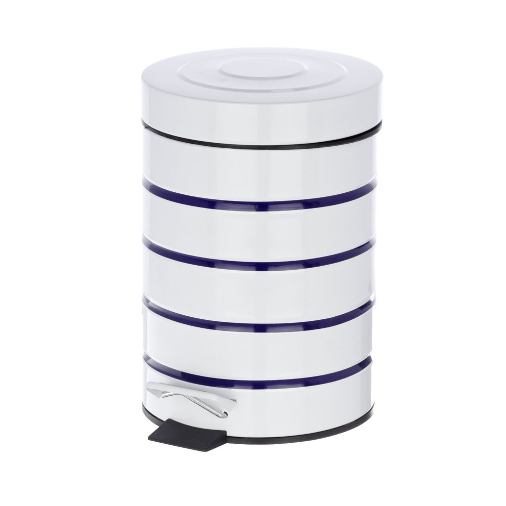 Wenko Marine 3 Litre Cosmetic Pedal Bin - White - 21351100 Newest Large Image
