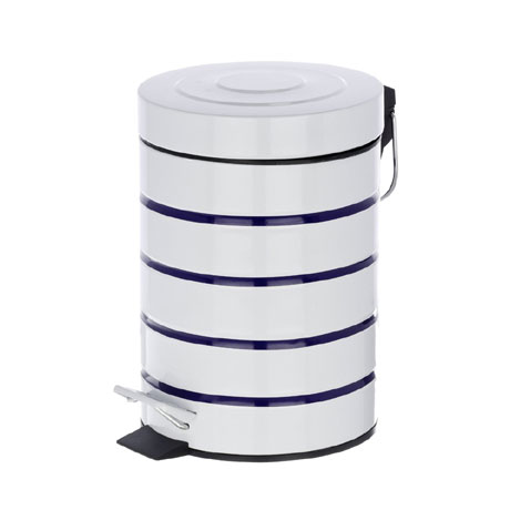 Wenko Marine 3 Litre Cosmetic Pedal Bin - White - 21351100