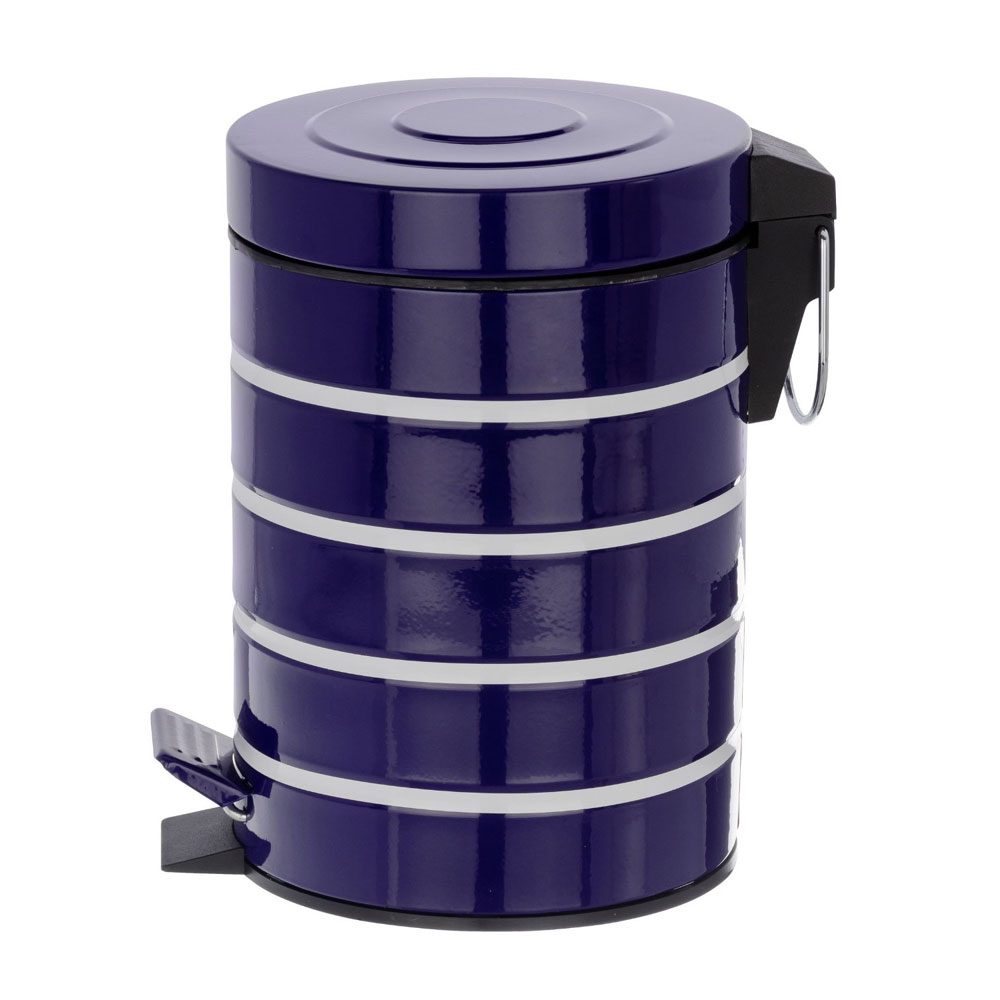Wenko Marine 3 Litre Cosmetic Pedal Bin - Blue - 21352100 Profile Large Image