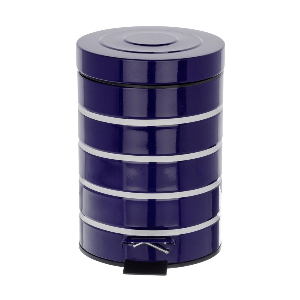 Wenko Marine 3 Litre Cosmetic Pedal Bin - Blue - 21352100 Feature Large Image