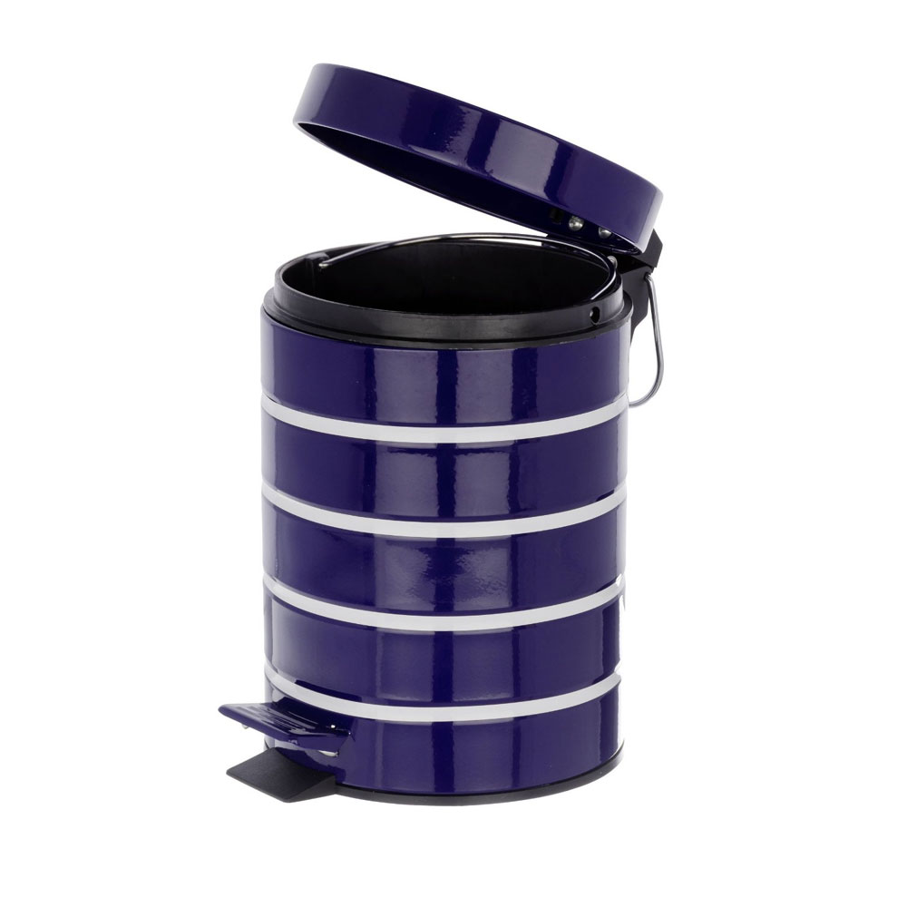 Wenko Marine 3 Litre Cosmetic Pedal Bin - Blue - 21352100 profile large image view 4