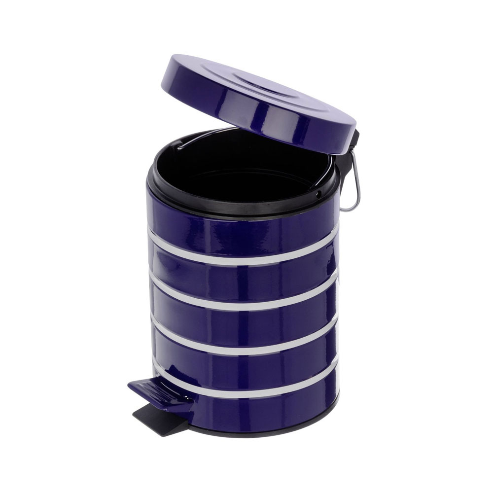 Wenko Marine 3 Litre Cosmetic Pedal Bin - Blue - 21352100 In Bathroom Large Image