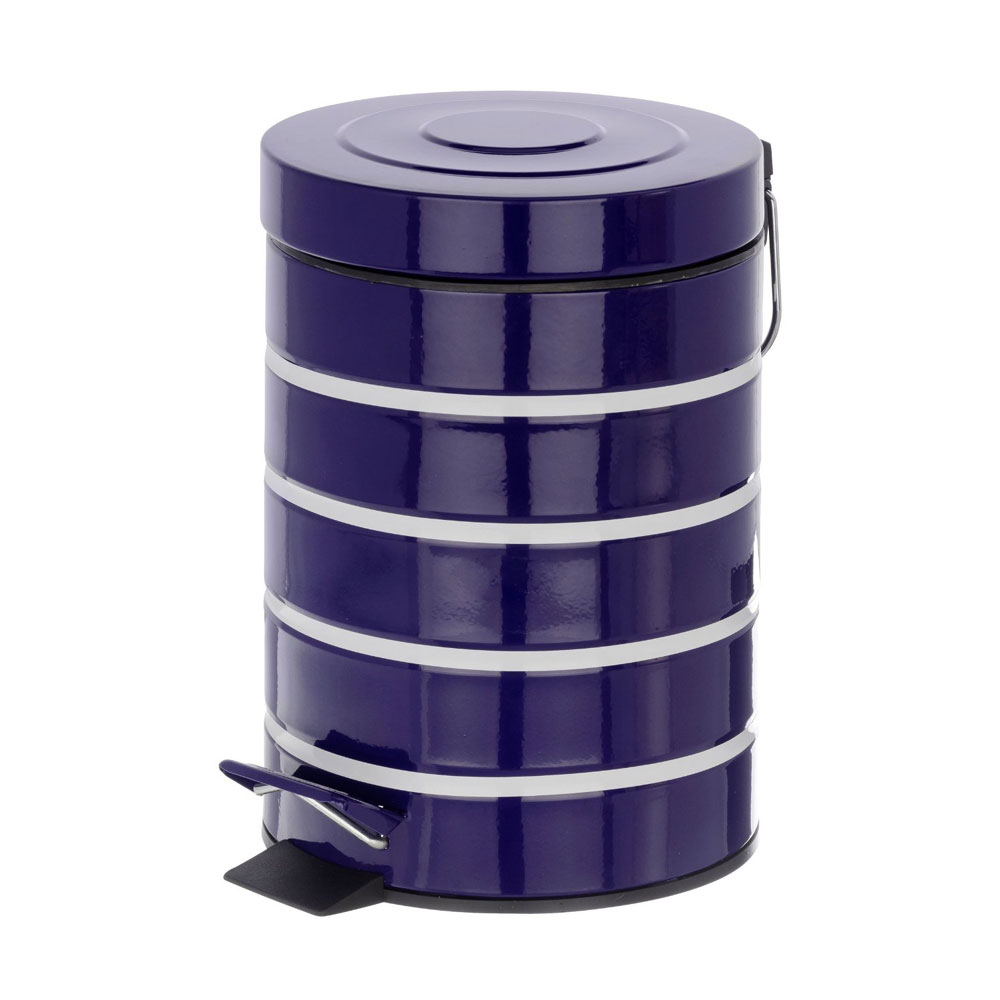 Wenko Marine 3 Litre Cosmetic Pedal Bin - Blue - 21352100 Large Image