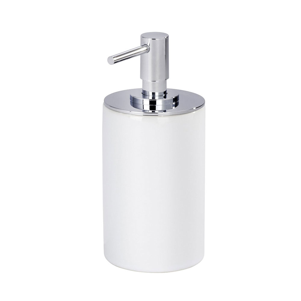 Wenko Polaris Neo Ceramic Soap Dispenser - White - 21651100 Large Image