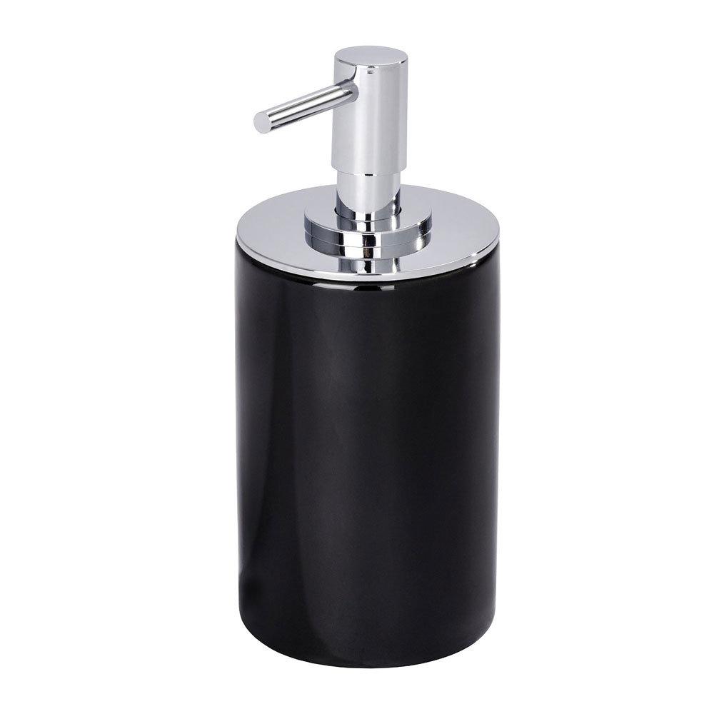 Wenko Polaris Neo Ceramic Soap Dispenser - Black - 21652100 Large Image