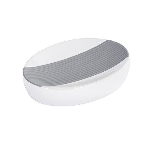 Wenko Bahia Ceramic Soap Dish - Grey - 21681100 Large Image