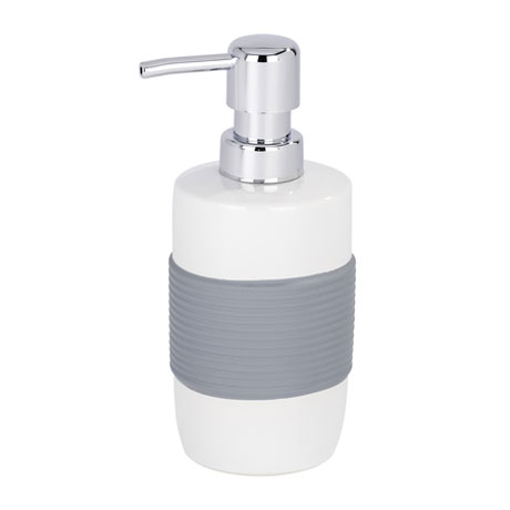 Wenko Bahia Ceramic Soap Dispenser - Grey - 21683100 Large Image