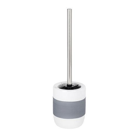Wenko Bahia Ceramic Toilet Brush & Holder - Grey - 21684100 Large Image