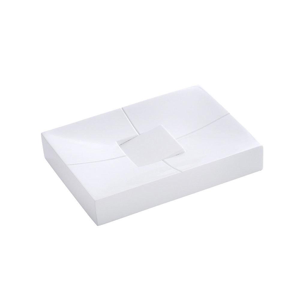 Wenko Houston Soap Dish - White - 21701100 Large Image