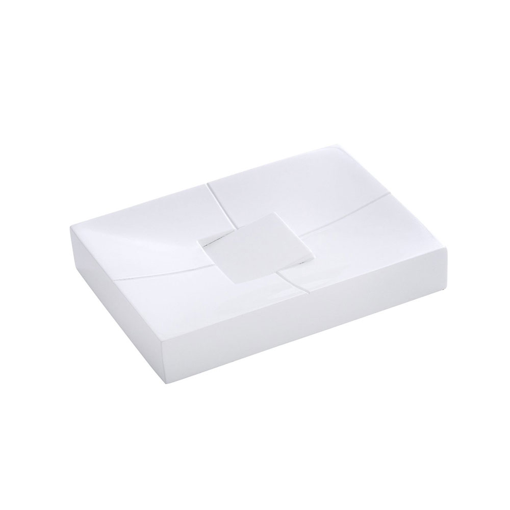 Wenko Houston Soap Dish - White - 21701100 profile large image view 1