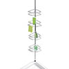 Wenko Dolcedo Telescopic 4-Tier Corner Shelf Storage - Stainless Steel - 21803100 profile small image view 1