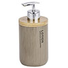 Wenko Palo Taupe Polyresin / Bamboo Soap Dispenser profile small image view 1