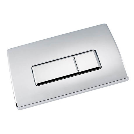 Large Chrome Pneumatic Push Button Flush Plate
