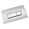 Large Chrome Pneumatic Push Button Flush Plate profile small image view 1