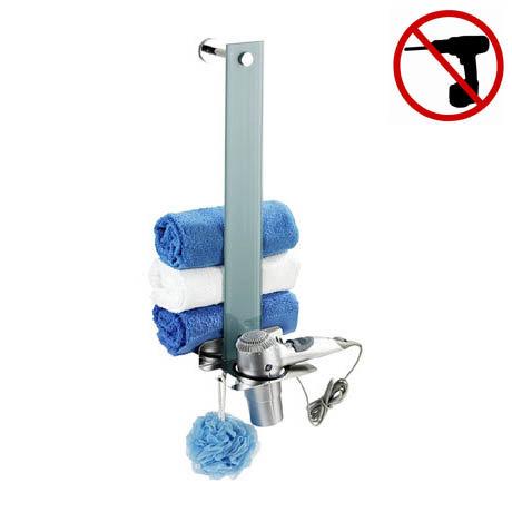 Wenko Era Power-Loc Towel Stacker and Hair Dryer Holder - 22344100