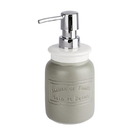 Wenko Maison Grey Ceramic Soap Dispenser - 22640100