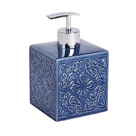 Wenko Cordoba Blue Ceramic Soap Dispenser - 22653100