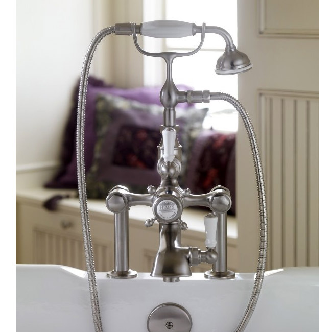Hollys of Bath Deck Mount Thermostatic Chrome Bath Shower Mixer - 2280 profile large image view 2