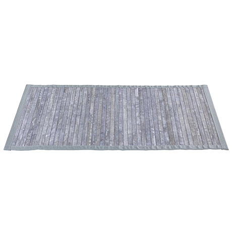 Wenko Bamboo Bath Mat - 500 x 800mm - Grey