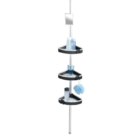 Wenko Wave Telescopic 3-Tier Corner Shelf Storage - 22827100
