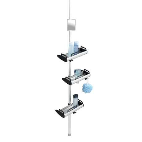 Wenko Line Telescopic 3-Tier Corner Shelf Storage - 22828100
