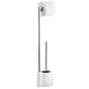 Wenko Avola White Extra Heavy Freestanding Toilet Brush & Roll Holder - 22989100 profile small image view 1