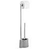 Wenko Avola Grey Extra Heavy Freestanding Toilet Brush & Roll Holder - 22990100 profile small image view 1