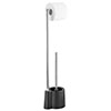 Wenko Avola Black Extra Heavy Freestanding Toilet Brush & Roll Holder - 22991100 profile small image view 1