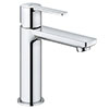 "Grohe Lineare Basin Mixer 1/2"" S-Size with Push-Open Waste Set - 23106001 profile small image view 1"