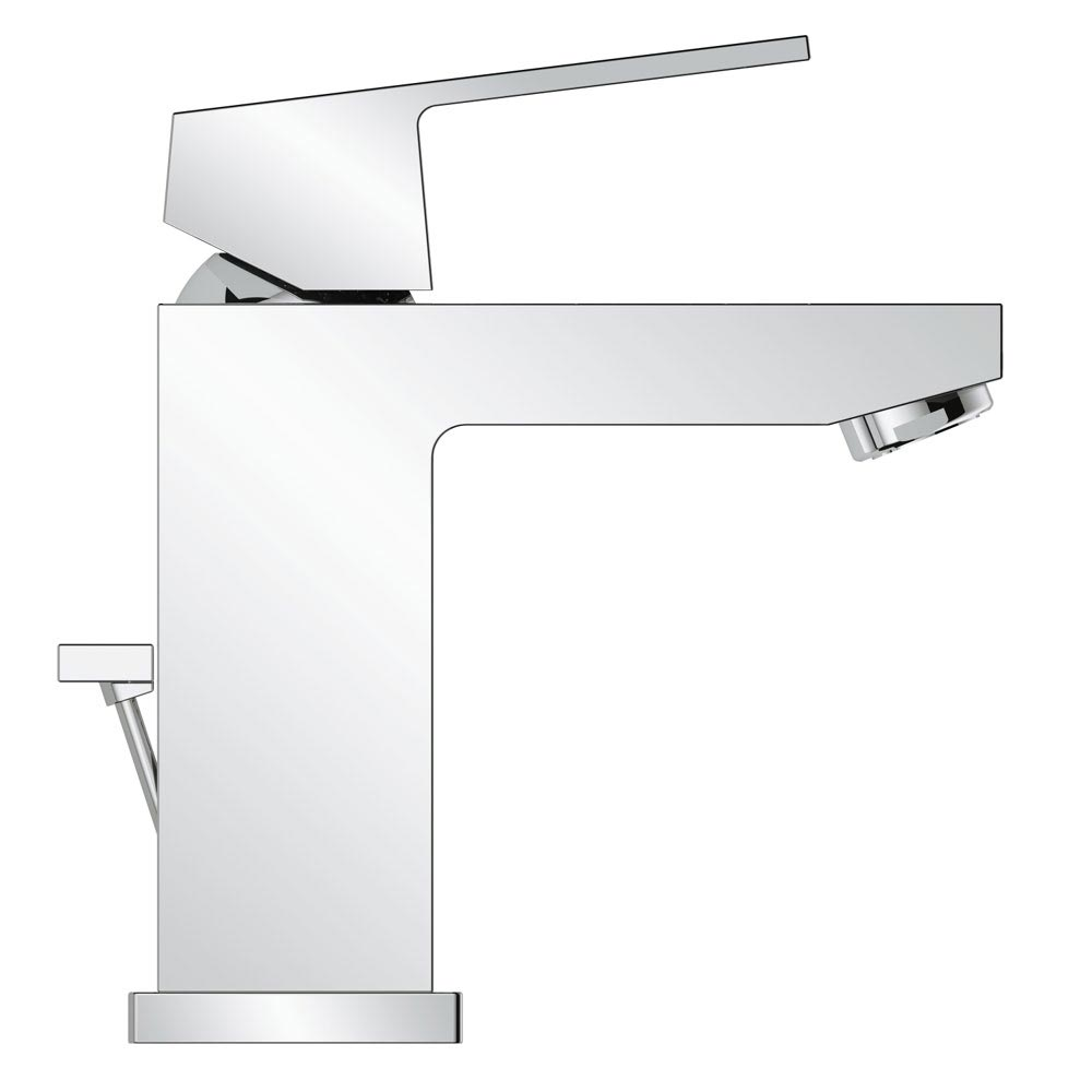 Grohe Eurocube Mono Basin Mixer with Pop-up Waste - 23127000 Profile Large Image