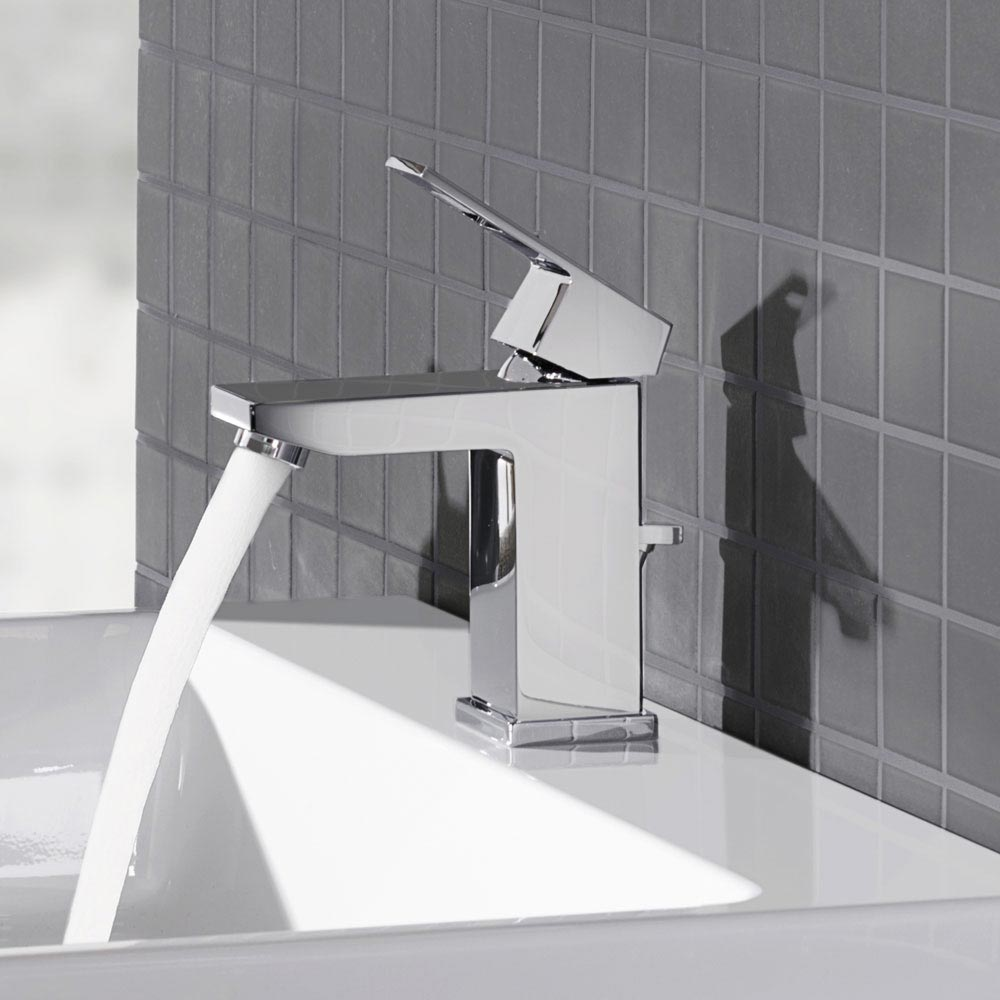 Grohe Eurocube Mono Basin Mixer with Pop-up Waste - 23127000 Standard Large Image
